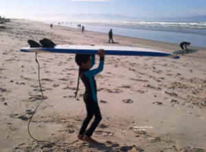 I like this photo of me carrying the board like this