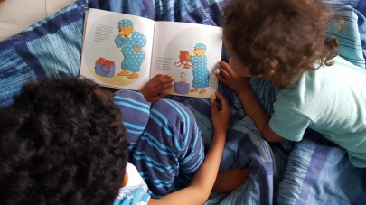 I love QUIET time, it's so awesome that Kai can read to Faith!