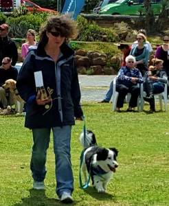 Badger and his proud mommy after he collected his medal.
