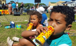 Kids chilling out with their Ice Teas.
