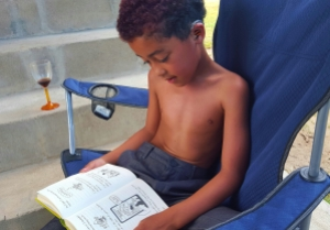 I didn't edit my novel. I didn't read past page 2 of my book. BUT we did read Diary of a Wimpy Kid together :-)